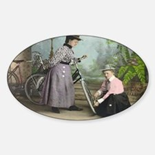 women-bicycle1 Decal