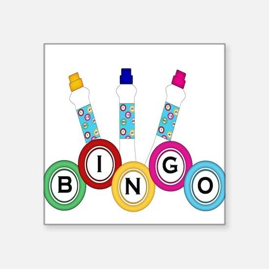BINGO WITH MARKERS Sticker