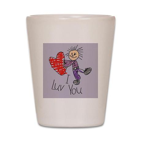 child-boy-luv-purple Shot Glass