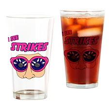see-strikes-white Drinking Glass
