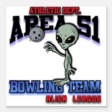 """area51-bowling-tean-2-cl Square Car Magnet 3"""" x 3"""""""