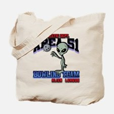 area51-bowling-tean-2-clear Tote Bag