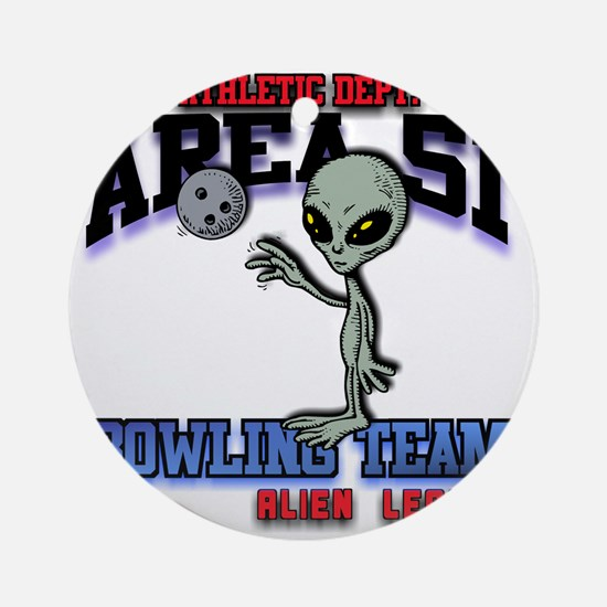 area51-bowling-tean-2-clear Round Ornament