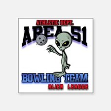 "area51-bowling-tean-2-clear Square Sticker 3"" x 3"""