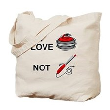 curling-not-curling-white Tote Bag