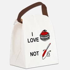 curling-not-curling-white Canvas Lunch Bag