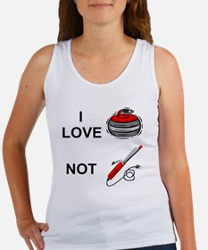 curling-not-curling-white Women's Tank Top