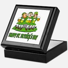happy-st-pat-day-white Keepsake Box