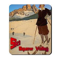 ski-girl-squaw-valley Mousepad