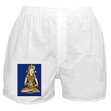 buddha1cardblue Boxer Shorts