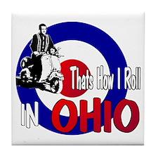 Ohio-color Tile Coaster