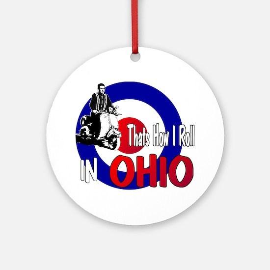 Ohio-color Round Ornament