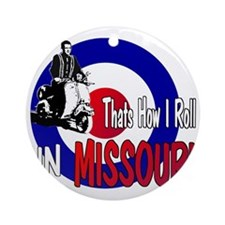 Missouri-color Round Ornament