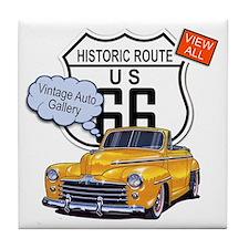vintage-auto Tile Coaster