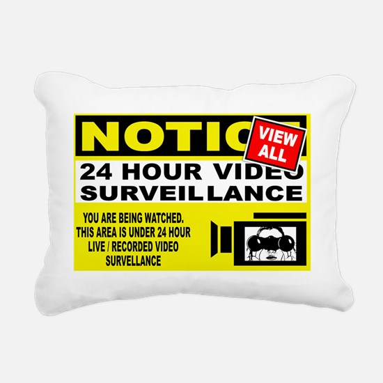 security-banner Rectangular Canvas Pillow