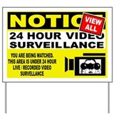 Video surveillance Yard Signs