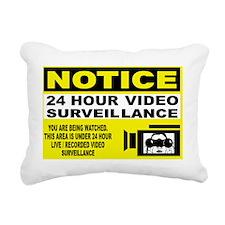 24-hour-security-2 Rectangular Canvas Pillow