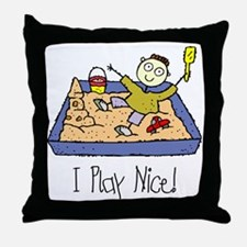i-play-nice Throw Pillow