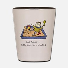 kitty-made-whistle Shot Glass