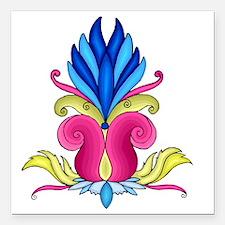 "lotus-flower Square Car Magnet 3"" x 3"""