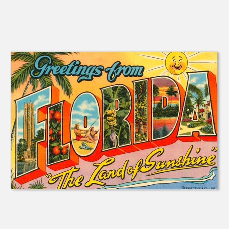 florida1 Postcards (Package of 8)