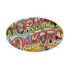 north-dakota Oval Car Magnet