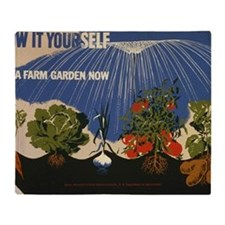 grow-it-postcard Throw Blanket