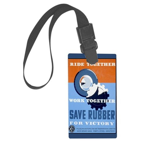 save--post-card Large Luggage Tag
