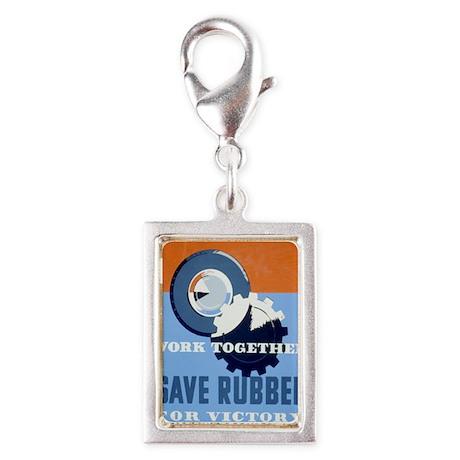save--grt-card Silver Portrait Charm