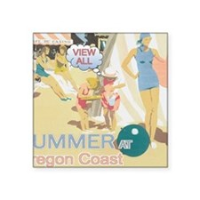 """summer-section Square Sticker 3"""" x 3"""""""