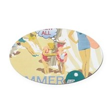 summer-section Oval Car Magnet