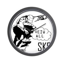 skate-section Wall Clock