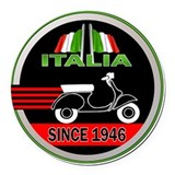 Vespa Round Car Magnets