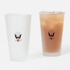 navy-emblem1-white Drinking Glass