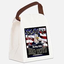 navy-eagle2-tile Canvas Lunch Bag