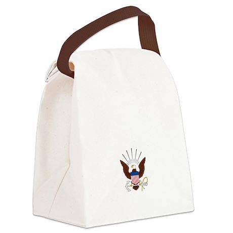 navy-emblem1-white Canvas Lunch Bag
