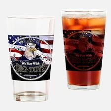 navy-eagle2-clock Drinking Glass