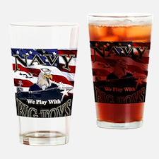 navy-eagle2-gcard Drinking Glass