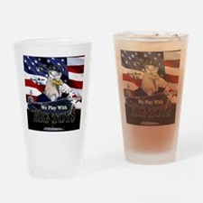 navy-eagle2-button Drinking Glass