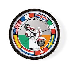 ireland-WHT-scoot Wall Clock