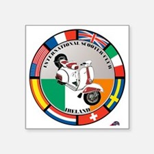 """ireland-WHT-scoot Square Sticker 3"""" x 3"""""""