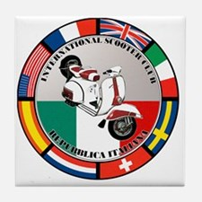 italy-WHT-scoot Tile Coaster