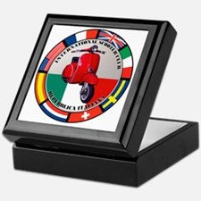 italy-RED-scoot Keepsake Box