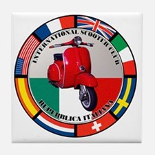 italy-RED-scoot Tile Coaster