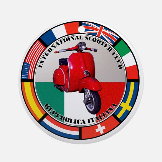 italy-RED-scoot Round Ornament