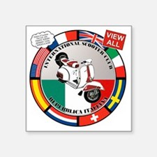 "vespa-country-section Square Sticker 3"" x 3"""