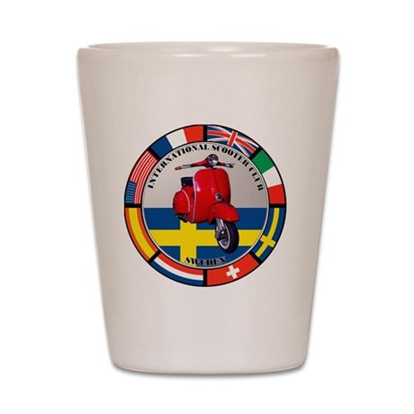 sweden-RED-scoot Shot Glass