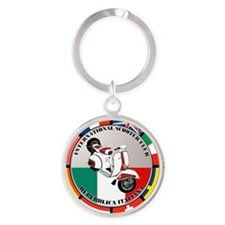 2-vespa-country-section Round Keychain