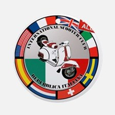 2-vespa-country-section Round Ornament