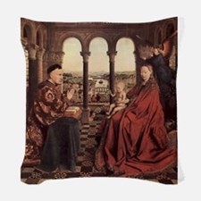 Jan_van_Eyck_070 Woven Throw Pillow